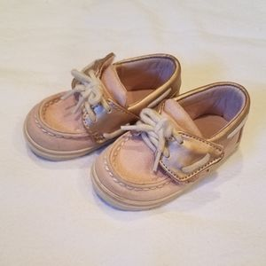 Baby girl Sperry velcro shoes